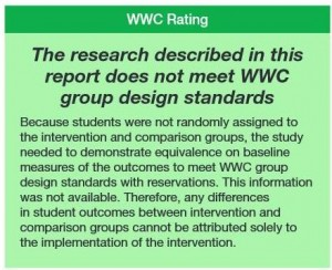 WWC Does Not Meet Standards